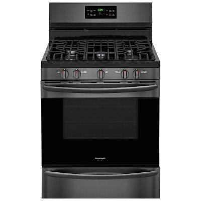 FGGF3036TD Frigidaire Gas Range with Quick Bake Convection - 5.0 cu. ft. Black Stainless Steel