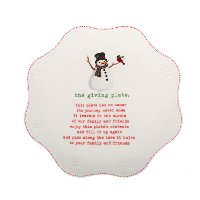 80425 Multi-Color Snowman Giving Plate