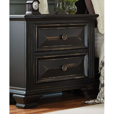 Black Traditional Nightstand - Passages