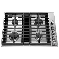 KCGD500GSS KitchenAid 30 Inch 4-Burner Gas Cooktop - Stainless Steel