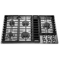 KCGD506GSS KitchenAid 36 Inch 5-Burner Gas Cooktop - Stainless Steel