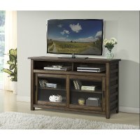 54 Inch Modern Acacia Brown TV Stand