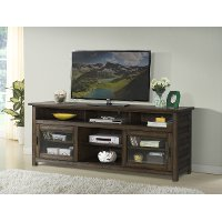 74 Inch Modern Acacia Brown TV Stand