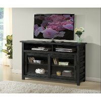54 Inch Rustic Black TV Stand