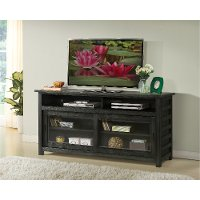 64 Inch Rustic Black TV Stand