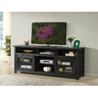 74 Inch Rustic Black TV Stand
