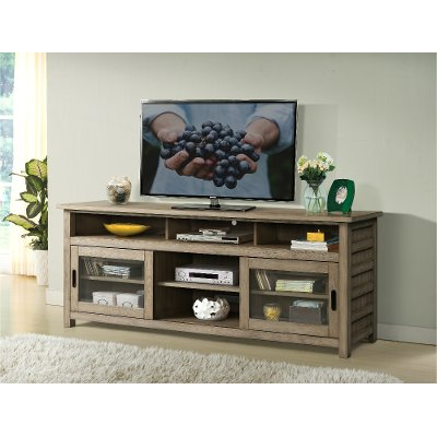 Washed Gray Transitional 75 Inch Tv Stand Vogue Rc Willey