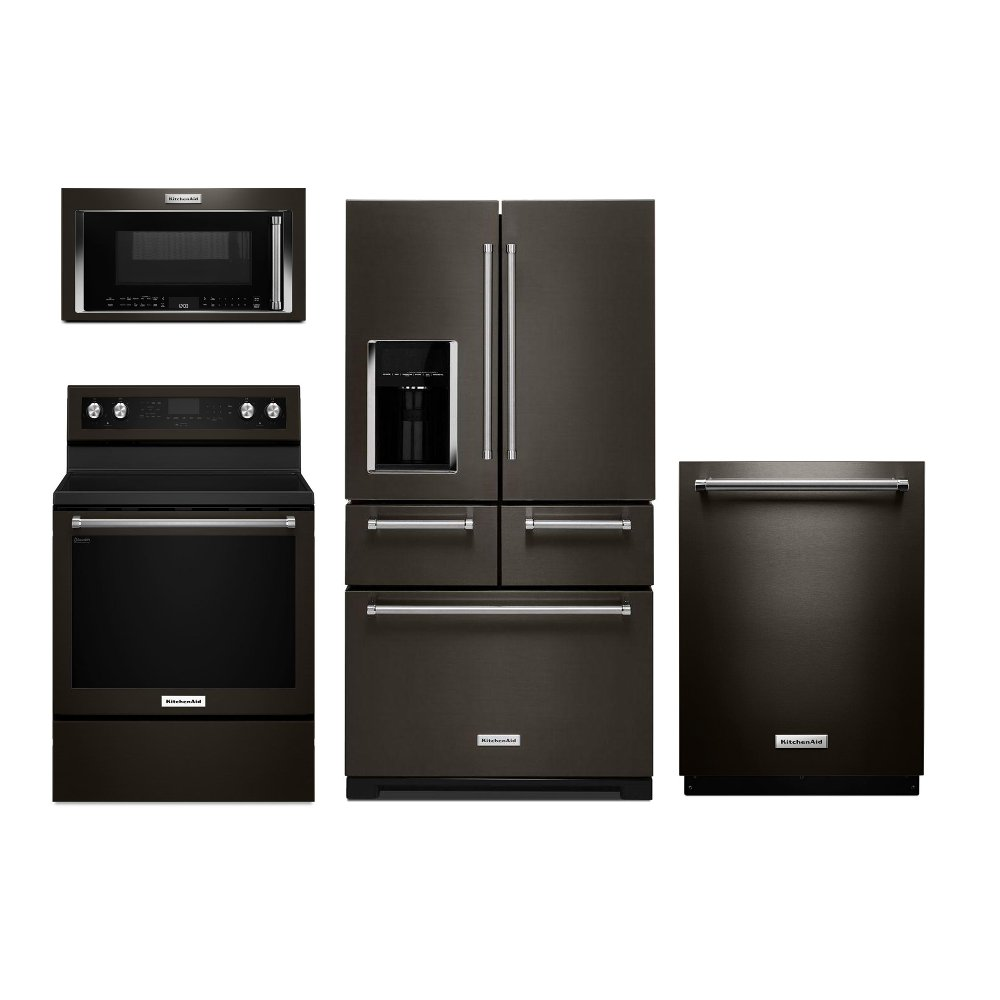 Kitchenaid 4 Piece Kitchen Appliance Package With Electric Range
