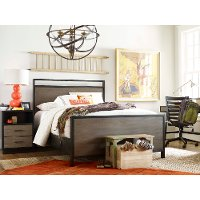 Two Tone Modern Industrial Full Size Bed - #myroom