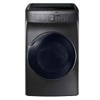 DVE55M9600V Samsung 7.5 cu. ft. Electric FlexDry Dryer with Steam - Black Stainless Steel