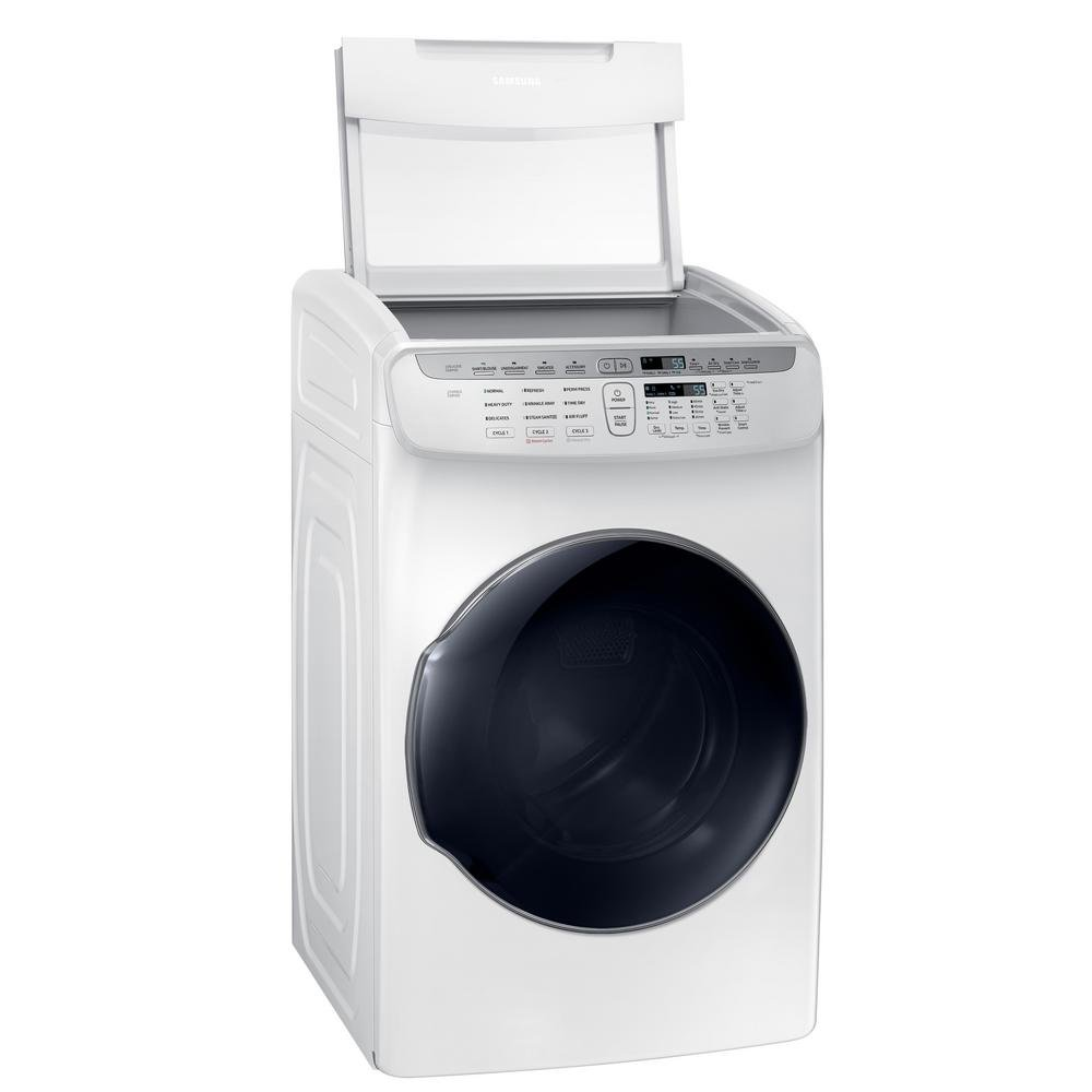 samsung white 75 cu ft flexdry electric dryer rc willey furniture store