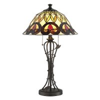 Dark Bronze Tiffany-Style Table Lamp - Odetta