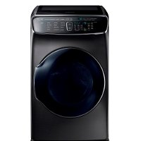 DVE60M9900V Samsung 7.5 Total cu. ft. Electric FlexDry Dryer with Steam - Black Stainless Steel