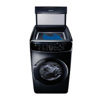 DVG60M9900V Samsung 7.5 Total cu. ft. Gas FlexDry Dryer with Steam - Black Stainless Steel