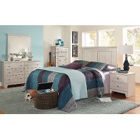 White Casual Classic 4 Piece Twin Bedroom Set - Outland