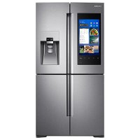 RF22M9581SR Samsung 4-Door Flex Refrigerator with Family Hub 2.0 Counter-Depth - 36 Inch  Stainless Steel