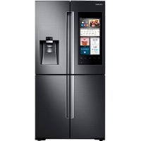 RF22M9581SG Samsung 36 Inch 4-Door Flex Refrigerator with Family Hub 2.0 Counter-Depth - Black-Stainless