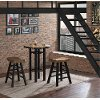 Clearance Natural and Black 3 Piece Pub Set- Gateway Collection