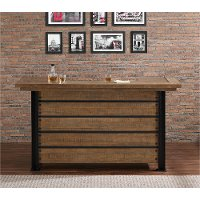 Natural And Metal Reclaimed Wood Bar Gateway Collection RC Willey Furnitu