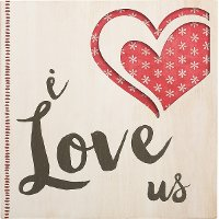 Pierced Wood I Love Us Sentiment Wall Art