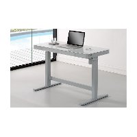 Contemporary White Height Desk - Adjustable