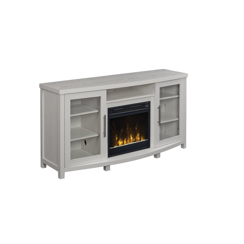 54 inch white tv stand with fireplace rc willey furniture store