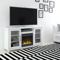 White TV Stand with Fireplace (54 Inch) - Rossville