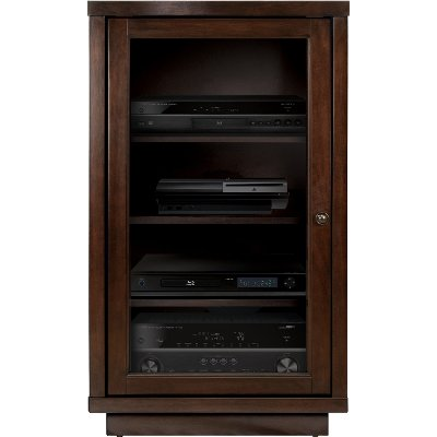 Lovely Espresso Brown Audio Video Component Cabinet