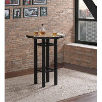 Natural and Black Pub Table - Gateway Collection
