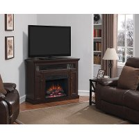 Dark Cherry TV Stand with Fireplace - Windsor
