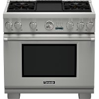 PRL364JDG Thermador Professional Series 36 Inch Stainless Steel Pro Grand Commercial Depth Liquid Propane Range