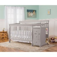 Dove Grey 5-in-1 Convertible Crib - Brody