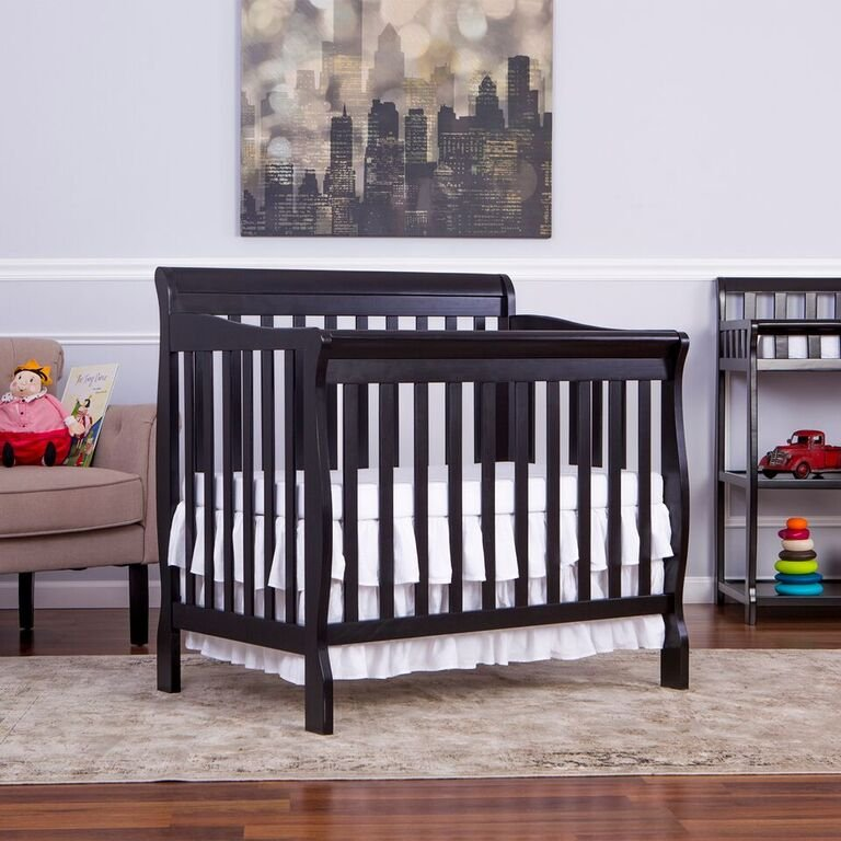 Black Convertible 4 In 1 Mini Crib Aden