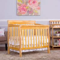 Natural Convertible 4-in-1 Mini Crib - Aden