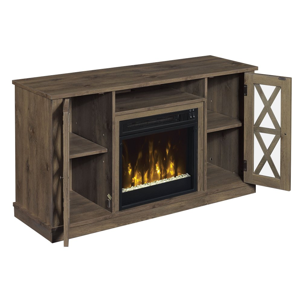 48 inch modern gray tv stand with fireplace rc willey furniture