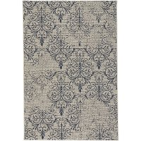 4 x 6 Small Navy Indoor-Outdoor Rug - Finesse Heirloom