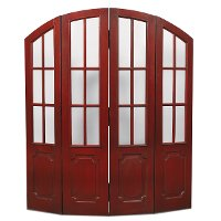 Deep Red Distressed 2 Piece Chateau Room Divider