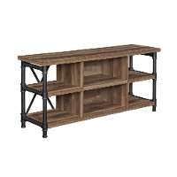 Industrial Driftwood Brown TV Stand (54 Inch) - Irondale