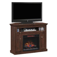 Antique Cherry TV Stand with Fireplace (46 Inch) - Windsor