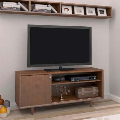 54 Inch Mid-Century Modern Mahogany TV Stand | RC Willey Furniture ...