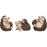Assorted Resin Hedgehog Family Figurine