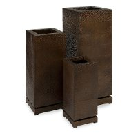 23 Inch Bronzed Metal Rectangular Planter