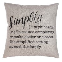 Gray Simplify Definition Throw Pillow