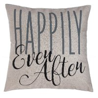 Gray Happily Ever After Throw Pillow