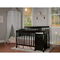 Black 4-in-1 Convertible Crib & Changer - Jayden
