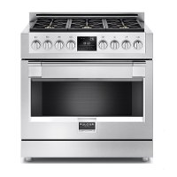 Fulgor Milano 36 Inch Stainless Steel Dual Fuel Range