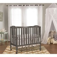 Steel Grey 3-in-1 Folding Portable Crib