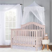 Blush Pink 5-in-1 Convertible Crib - Charlotte