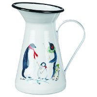 Multi-Color Penguin Jug with Handle