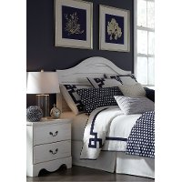 White Casual Classic Full-Queen Headboard - Taylor